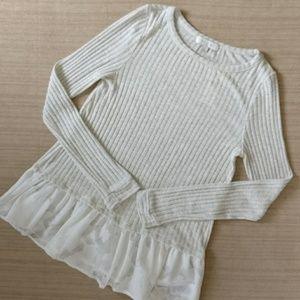 NWT Eri + Ali Peplum Sweater